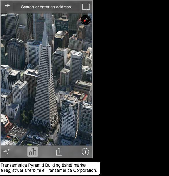 Një foto ajrore e qendrës së San Franciskos.
