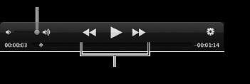 Obrázek ovládacích prvků pro přehrávání videa