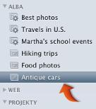 Obrázek ikony alba v seznamu zdrojů