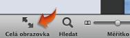 Obrázek tlačítka zobrazení na celou obrazovku