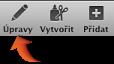 Obrázek tlačítka Úpravy na panelu nástrojů