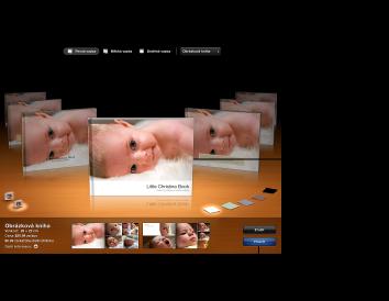 Obrázek okna s tématy alba a dalšími volbami