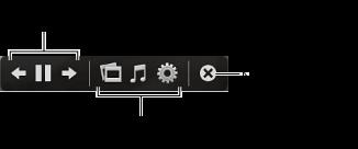 Obrázek s ovládacími prvky prezentace