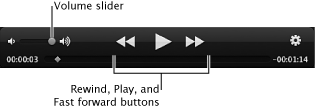 Image of video playback controls