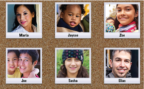 Image of Faces corkboard