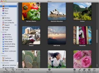 Image of iPhoto window