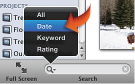 Image of Search menu, highlighting Date
