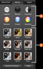 Screenshot of Effects pane