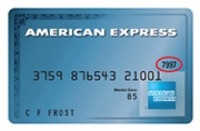 Image of the four-digit security code on the front of an American Express credit card
