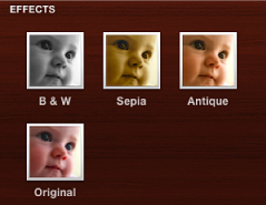 Image of effects in the Design pane
