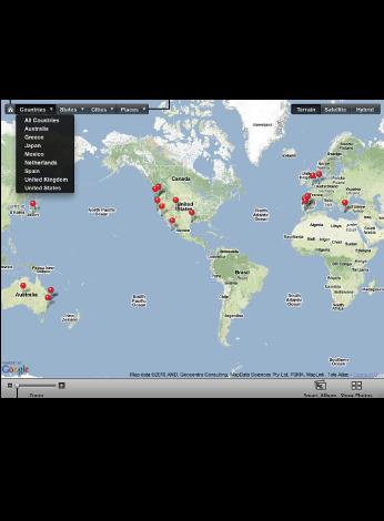 Изображение карты «Места»