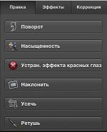 снимок экрана с панелью «Быстрая правка»