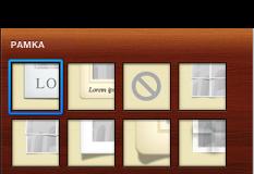 Изображения разных рамок, в том числе рамок с текстом