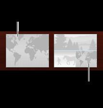 Изображение двух макетов: на одном есть только карта, на другом — и карта, и фотографии