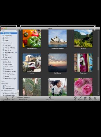 Tam iPhoto penceresinin görüntüsü