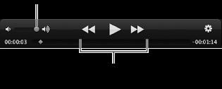Video oynatma denetimlerinin görüntüsü