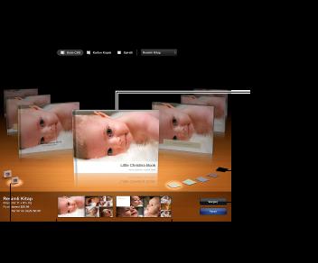 Kitap temalarını ve diğer seçenekleri gösteren pencere görüntüsü