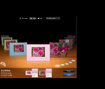 Kart temalarını gösteren pencere görüntüsü