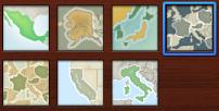 Tasarım bölümünde harita stillerinin görüntüsü