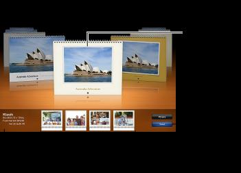 Takvim temalarını ve diğer seçenekleri gösteren pencere görüntüsü