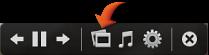 Temalar düğmesi vurgulanmış olarak slayt sunusu denetimleri
