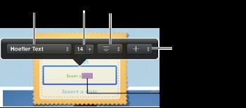 文本格式化调板的图像