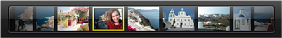 全屏幕视图中缩略图条的图像