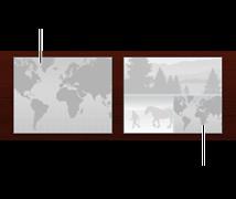 两种地图页面布局的图像(一种包含一张地图,另一种包含一张地图和多张照片)