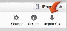 The Import CD button