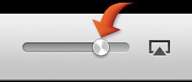 The volume slider
