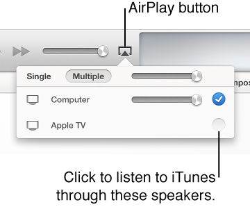 An arrow pointing to Music on the left side of the iTunes window
