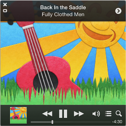 Screenshot of the expanded MiniPlayer
