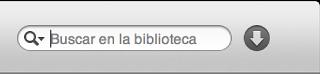 El campo de búsqueda de iTunes