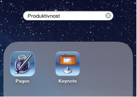 Slika otvorene mape s aplikacijama