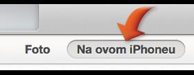 Kliknite tipku Na ovom uređaju, pri vrhu prozora iTunes.