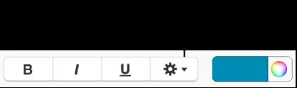 Опція-прапорець «Експертні параметри» поряд із кнопками «Жирний», «Курсив» і «Підкреслення».