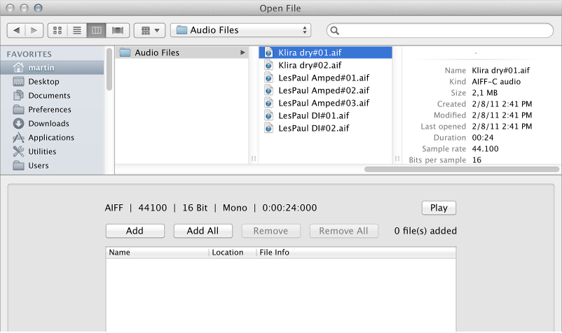 Figure. Open File dialog.