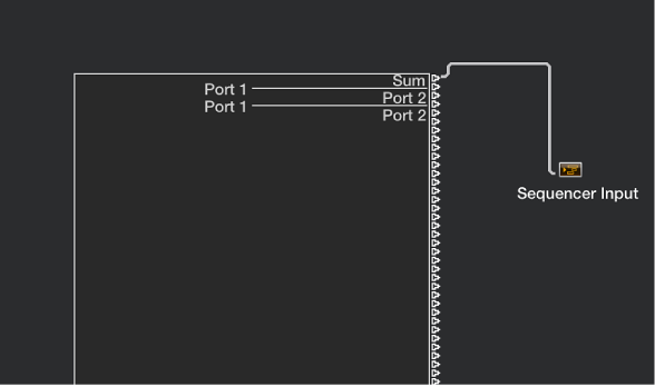 Figure. Physical and Sequencer Input objects in the Environment window.