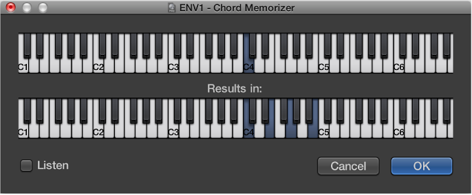 Figure. Chord Memorizer window.