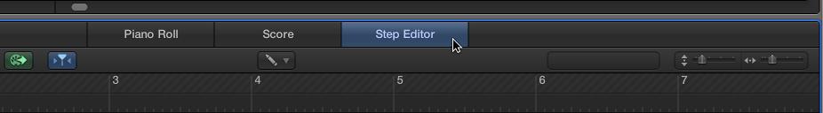 Figure. Step Editor button.