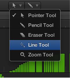 Figure. Line tool in Tools menu.