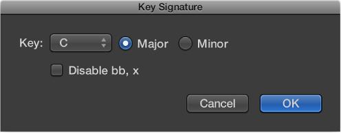 Figure. Key Signature dialog.