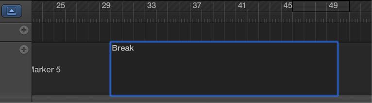 Figure. Marker track showing marker being renamed.