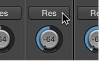 Figure. MIDI channel strip showing controller assignment on knob.