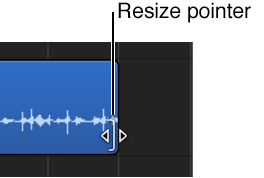 Figure. Resize pointer over the edge of a region.