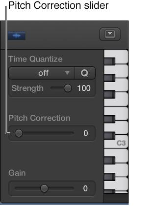 Figure. Pitch Correction slider.