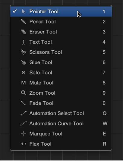 Figure. Open Tool menu.