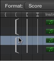 Figure. Bracket line in the Score Set window.