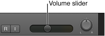 Figure. Track Volume slider.