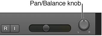 Figure. Track Pan/Balance knob.